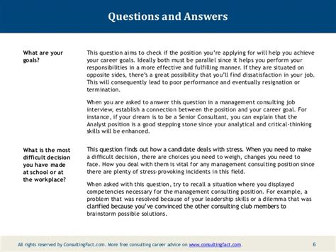 Briefly Describe Your Interest In This Position by Nine Common Management Consulting Fit Questions