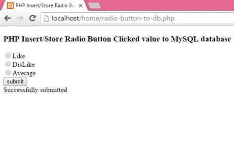 radio button db android exles