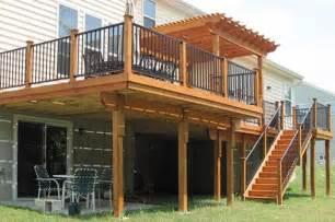 harmonious second floor deck second floor deck with screened in porch designs back deck