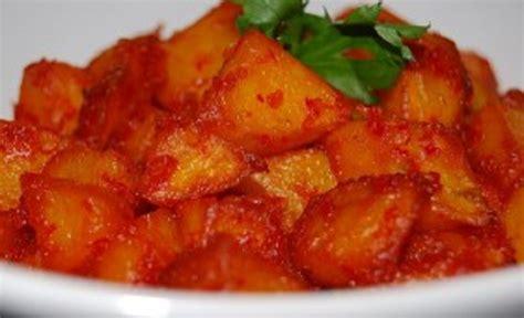 resep masakan kentang bumbu balado pedas enak  gurih