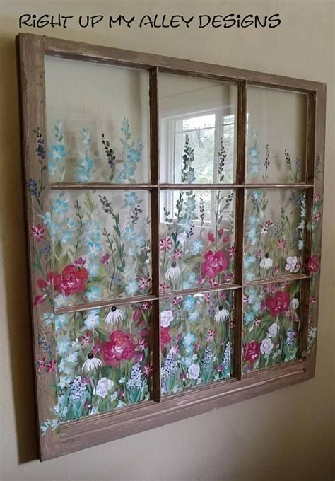 Hang one or multiples in your entryway, over a bed, either side of a fireplace, in a dining room, the list goes on. 158 best OLD PAINTED WINDOWS By RIGHT UP MY ALLEY DESIGNS images on Pinterest