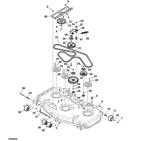 john deere   mower deck parts diagram