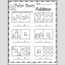 Polar Bears Addition Worksheet Madebyteachers