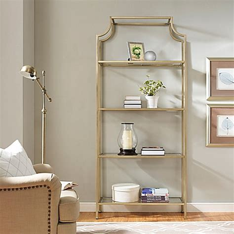 Crosley Aimee Glass Etagere In Gold  Bed Bath & Beyond
