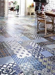 Sol Vinyle Imitation Carreau De Ciment : les plus beaux sols en carreaux ciment ~ Premium-room.com Idées de Décoration