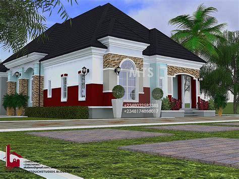 uche  bedroom bungalow modern  contemporary nigerian building designs