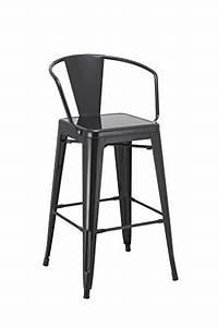 Chaise De Bar Metal : tabouret de bar industriel en metal noir duhome 0623 chaise de bar vintage style tabouret ~ Teatrodelosmanantiales.com Idées de Décoration