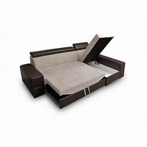 canape panoramique convertible et pouf capri With tapis couloir avec canapé d angle coffre