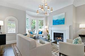Interior design inspiration photos by cardea building co for Light grey paint for living room