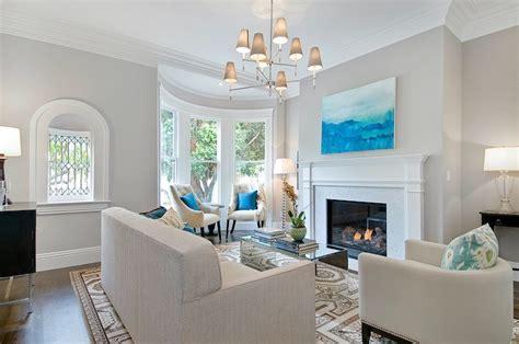 Benjamin Moore Abalone   Contemporary   living room