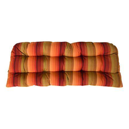 Sunbrella Settee Cushions by Rsh Decor Sunbrella Astoria Sunset Wicker Seat