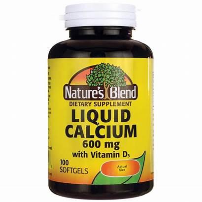 Calcium Liquid D3 Blend Softgels Nature Natures