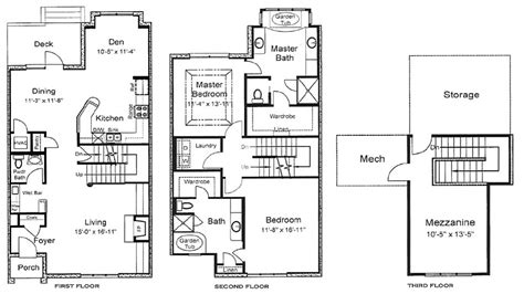 3 floor house plans 3 home floor plans 3 bedroom house plans 3