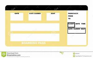 Blank Airline Boarding Pass Ticket Stock Photos Images ...