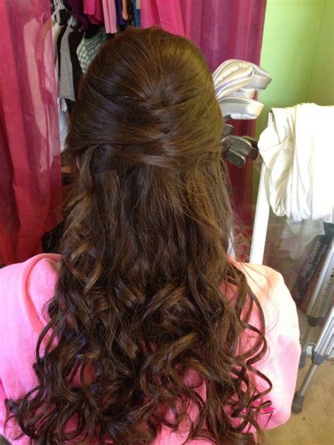half updo for long hair beauty secrets pinterest