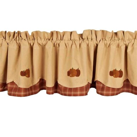 fall pumpkins valance