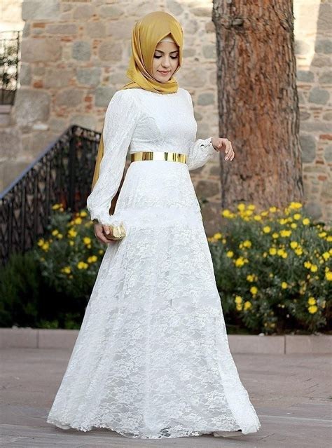 dress brokat muslim modern  penampilan mewah  berkelas