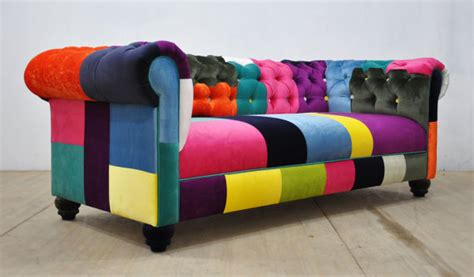 canape patchwork chesterfield patchwork sofa color waterfall