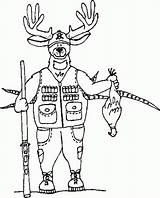 Elk Coloring Pages Hunting sketch template