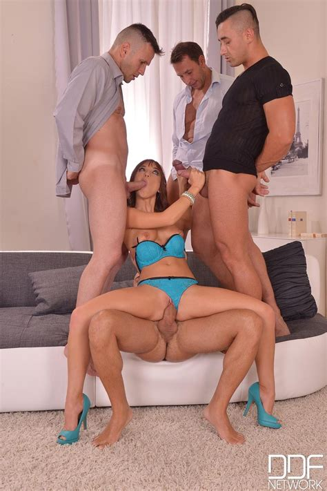 Horny Redhead Tina Hot Enjoys A Group Sex 1 Of 2