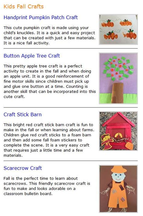 activities for fall autumn at 4 classrooms