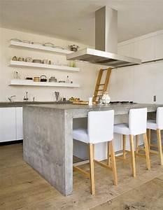 Béton Ciré Sur Plan De Travail : plan de travail b ton cir pour l 39 lot de la cuisine design ~ Nature-et-papiers.com Idées de Décoration