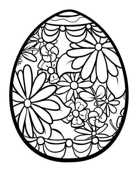 easter egg coloring pages bricolages de paques pinterest coloring eggs  search