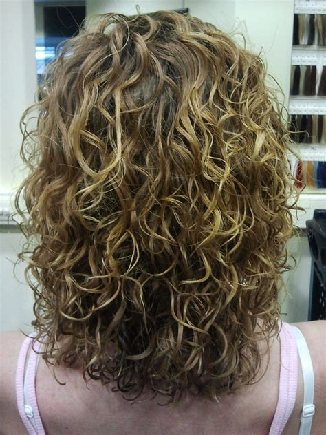 can you perm colored hair big curls highlights medium length hairstyles