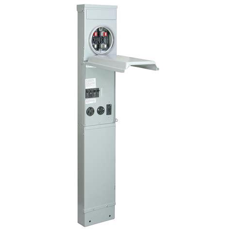 rv electrical pedestal ge rv pad mount metered pedestal with 100 120 240 volt