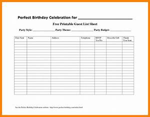 party guest list template gallery template design ideas With rsvp list template
