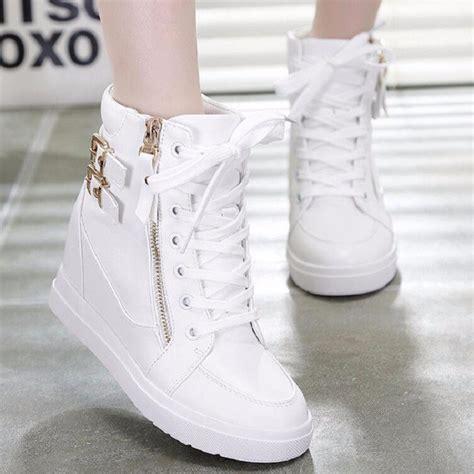 jual sepatu boot wedges zr30 putih di lapak terjual