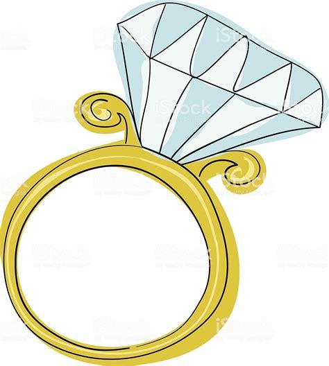 diamond engagement ring stock illustration download