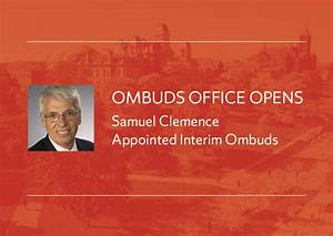 University Opens the Office of the University Ombuds ...