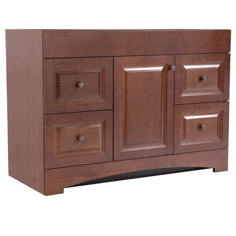glacier bay bathroom cabinets glacier bay regency 48 in vanity cabinet only in auburn