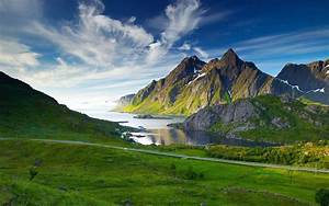Green, Desktop, Wallpaper, Hd, Landscape, Mountain, Lake, Grass