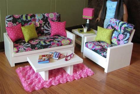 American Doll Living Room Plans by Woodwork Etsy American Furniture Pdf Plans