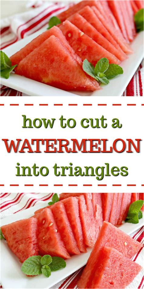 How To Cut A Watermelon Into Triangles  Mom 4 Real
