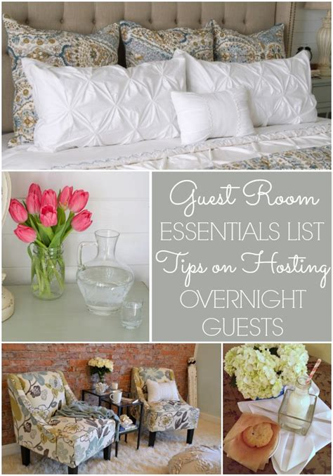 Guest Room Essentials List Tips For Hosting Overnight Guests