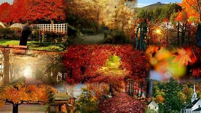 Fall Collage Wallpapers Desktop Country Church Resolutions
