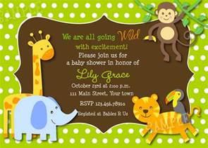 Girl Safari Baby Shower Invitations