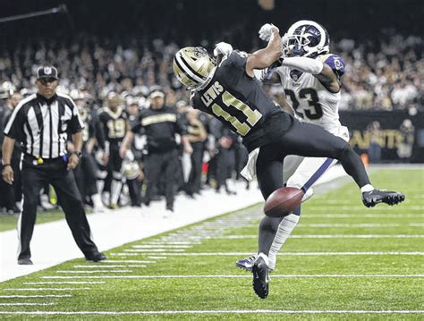 rams beat saints     blown call  lima news
