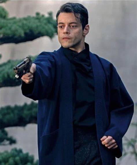 No Time to Die Rami Malek Safin Blue Wool Coat - Danezon