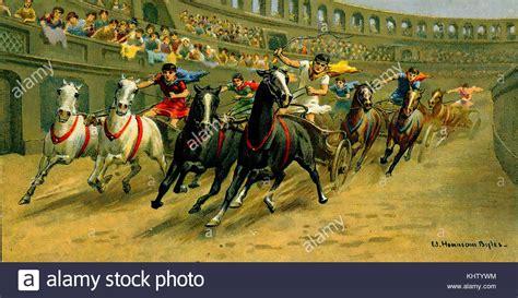 chariot race  ancient rome   cigarette card