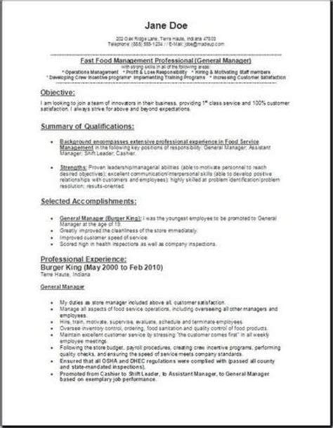 reference letter for food and beverage manager resume