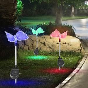 Lampen Für Den Garten : 8er set rgb led solarleuchten mit farbwechsel f r den garten unsichtbar lampen m bel ~ Whattoseeinmadrid.com Haus und Dekorationen