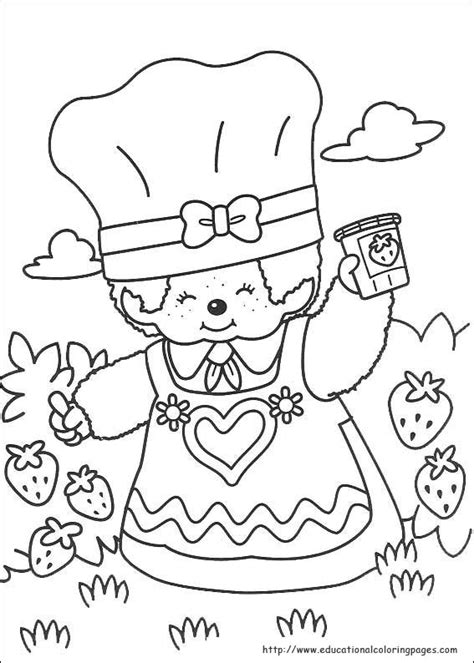 Monchichi Kleurplaat by Monchhichi Coloring Pages Educational Coloring