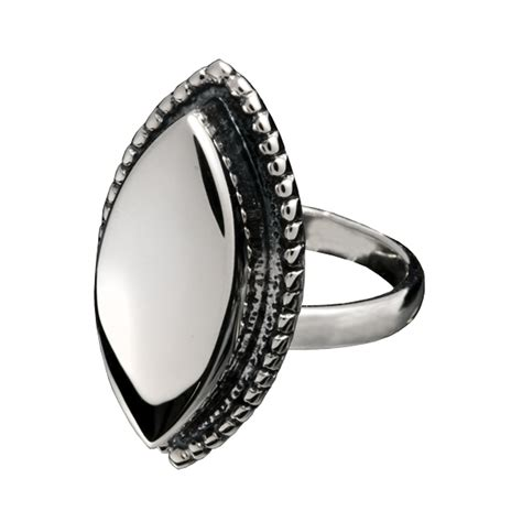 pet cremation jewelry sterling silver oval ring