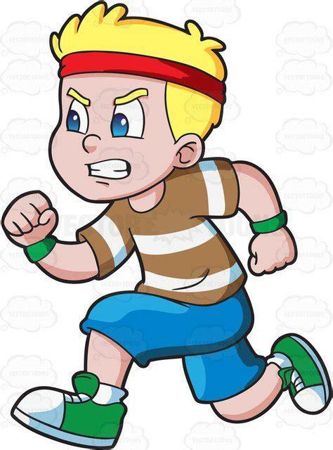 Clipart Running A Boy Running Fast To Win An Athletics Race