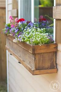 flower boxes for windows DIY Window Box and Shutters - Catz in the Kitchen