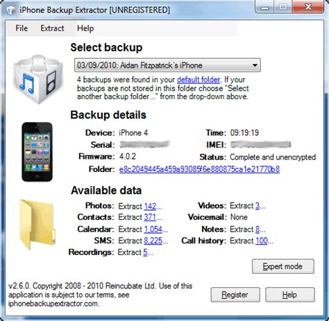 where is backup on iphone iphone backup extractor free 4 5 1 free